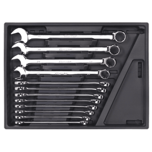 Sealey TBT37 12 Piece Metric Combination Spanner Set With Tool Tray