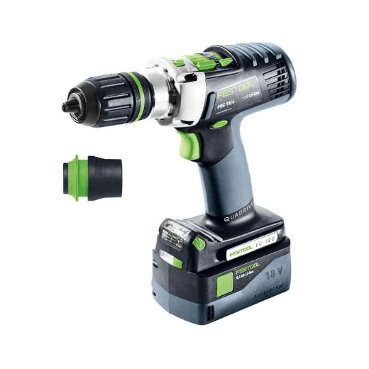 Festool 574705 PDC18/4 Li5.2Plus Gb Percussion Drill With 2 x 5.0Ah Batteries & Charger