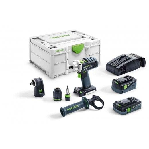 Festool Quadrive DRC18/4 5,2/4,0 I-Set-SCA 18v Cordless Drill In Systainer