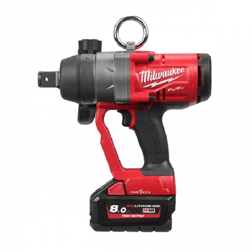 "Milwaukee M18ONEFHIWF1-801X 18v 1"" Drive Impact Wrench With 1 x 8.0Ah Battery & Charger"
