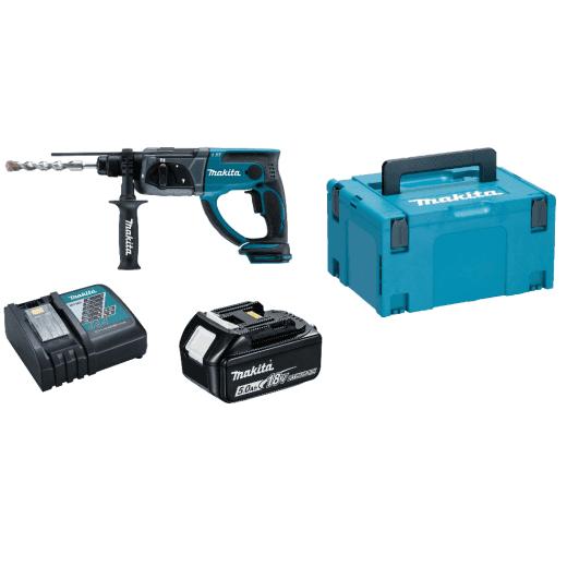 Makita DHR202RT1J 18v Cordless SDS Hammer Drill 1 x 5.0Ah Li-on Battery & Charger + Makpac Case