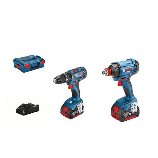 Bosch 06019G5275 GSB18V-28 + GDX 18V-180 18v Cordless Twin Pack 2 x 4.0ah Batteries