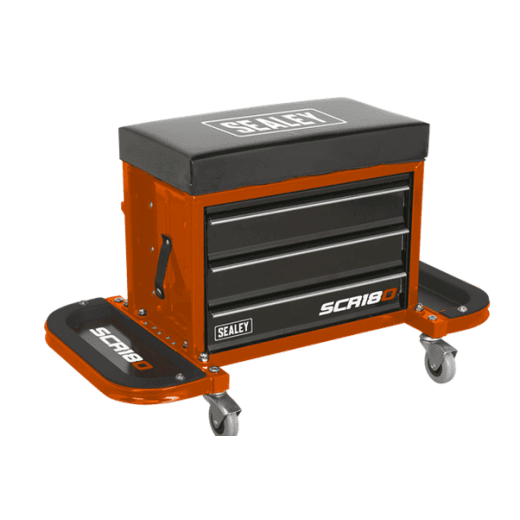 Sealey SCR18O Mechanics Utility Seat Orange