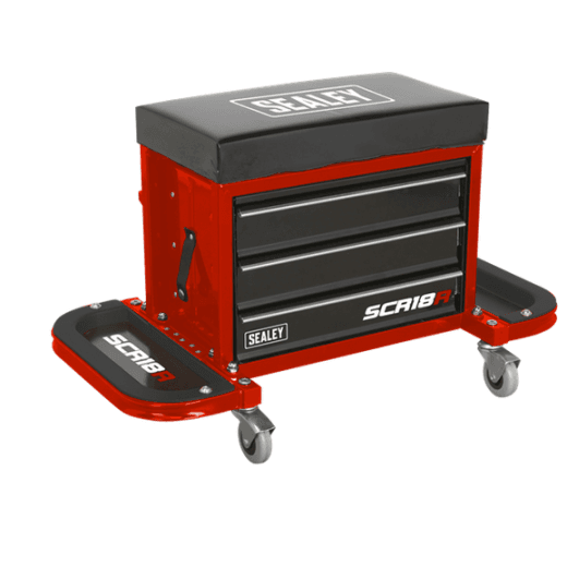 Sealey SCR18R Mechanics Utility Seat Red