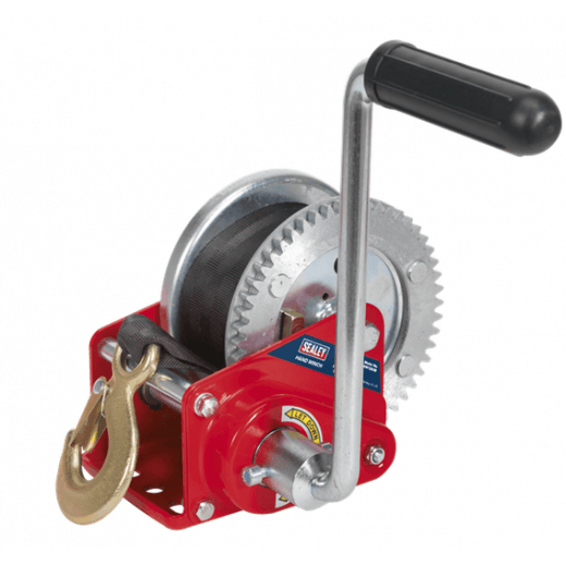 Sealey GWW1200B 540kg Capacity Geared Hand Winch with Brake & Webbing
