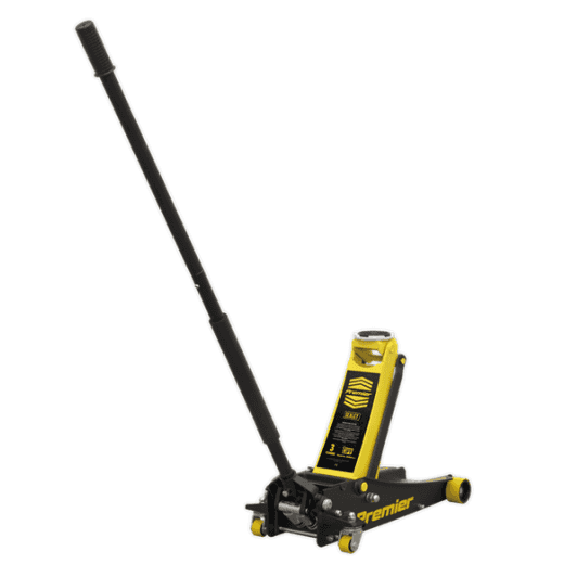 Sealey 3040AY 3tonne Trolley Jack with Rocket Lift - Yellow
