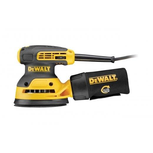 Dewalt DWE6423-LX 125mm 110v Random Orbit Sander 16amp Yellow Plug