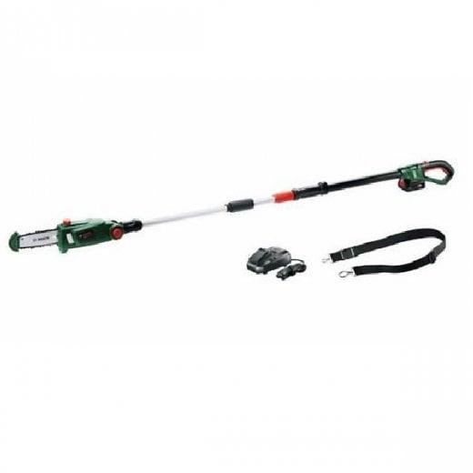 Bosch UniversalChainPole 18 18v Cordless Pole Chainsaw 1 x 18v Battery + Charger