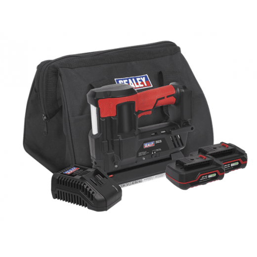 Sealey CP20VNGKIT 20V Cordless Staple/Nail Gun Kit 18G