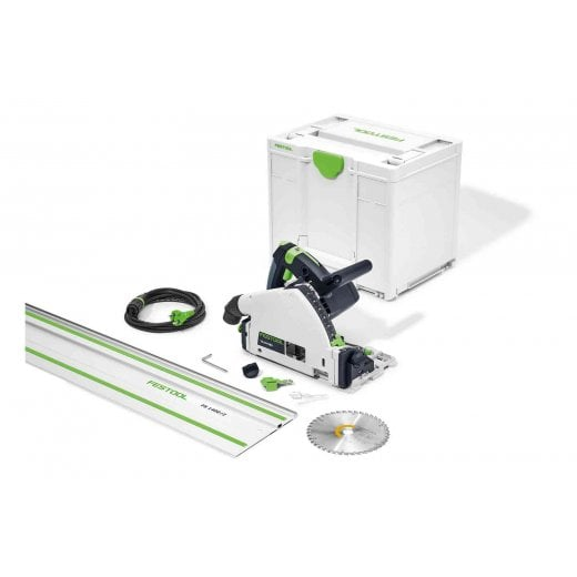 Festool TS55FEBQ-Plus-FS 240v Plunge Saw With 1 x FS1400 Guide Rail In Systainer 577012
