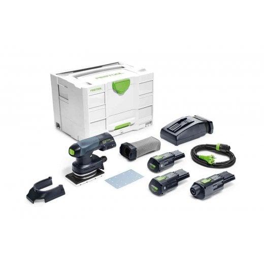 Festool RTSC400 LI 3.1 Set Cordless 18v Or 240v Orbital Sander  2 x Batteries