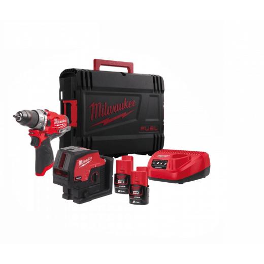 M12FPPBB-202X 12v Combi Drill & Laser Kit