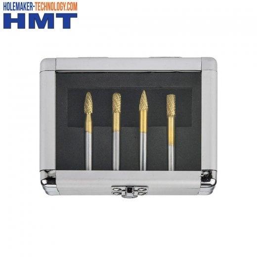 HMT GoldMax TCT Burr Set 4 Piece 4020-SET1