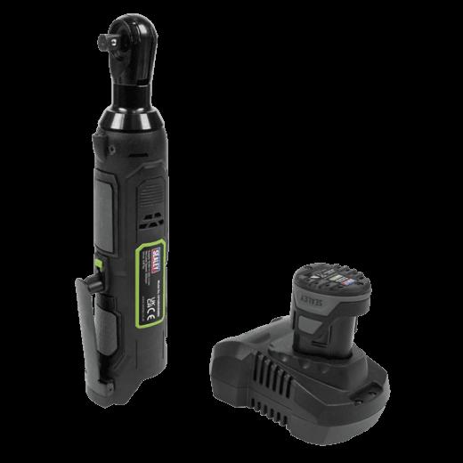 "Sealey CP108VCRW 10.8V 2Ah 3/8""Sq Drive Cordless Ratchet Wrench Kit 45Nm"