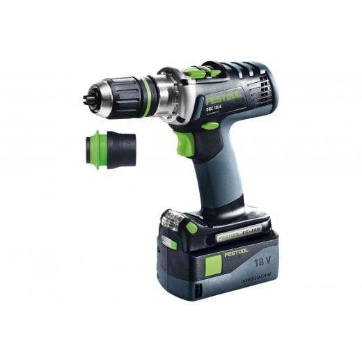 Festool 574698 DRC18/4 Li 5,2-Plus QUADRIVE Cordless Drill Kit