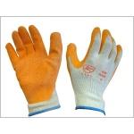 Orange Coated Latex Glove