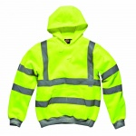 High Visibility Safety Hooded Sweatshirt Saturn Yellow