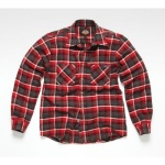 Flannel Check Shirt Red XL