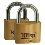 k12530d2 30mm Brass Padlock Twin Pack