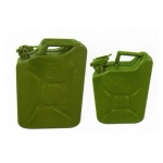 Metal jerry can 10l green