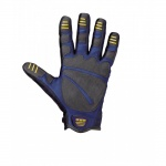 General construction gloves with adjustable wrist straps