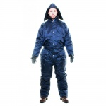 HOODED LINED RAINSUIT NAVY XXL