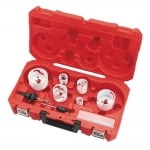 10 Piece Holesaw Set With Arbors