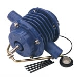Drill powered pump with spare washers and vanes