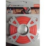 2.4mm Strimmer Line Round 43 Mtr Roll Red