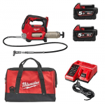 M18GG-502X 18v Grease Gun With 2 x M18B5 Batteries, Charger and Bag