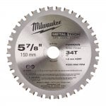 48404080 Metal Cutting Blade 150mm Diameter 20mm bore 34 Teeth