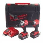 M18FPP2A2-502X 18v Gen II Twin Pack Combi Drill & Impact Driver