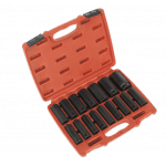"AK5816M 16 Piece Impact Socket Set 1/2"" Drive Deep"
