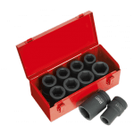 "AK689 10 Piece Impact Socket Set 1"" Drive Deep"