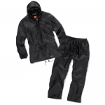 2pc Waterproof Rainsuit Black