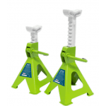 VS2002HV Axle Stands (Pair) 2tonne per Stand Hi Vis Green