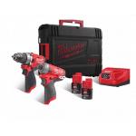 M12FPP2AQ-202X 12v Cordless Fuel Combi Drill & Surge Impact Driver Twin Kit
