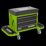 SCR18G Mechanics Utility Seat Green