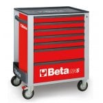 C24S/7 Mobile Roller Cab Red 7 Drawer Tool Cabinet