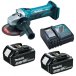Makita DGA452RFE 18v 115mm Angle Grinder 2 x 3.0Ah Batteries, Charger,Bag