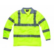 Hi Visibility Safety Long Sleeve Polo Shirt Saturn Yellow