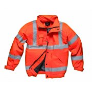 GO/RT Bomber Jacket Hi Visibility Orange