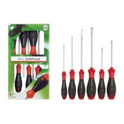 WHA-07153 SoftFinish Screwdriver Set 6 Pieces SL/PZ Round Blade