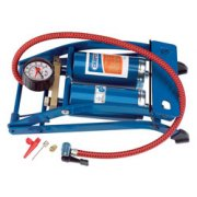 twin cylinder foot pump with gauge 25996