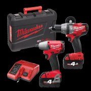 M18PP2B-402C 18v Cordless Drill M18cpd & M18ciw12 1/2 Drive Impact Wrench Kit