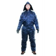 Winter Lined Padded Coverall Rainsuit Navy