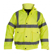 HJ44YL Hi Vis Bomber Jacket Yellow