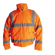 HV110R Orange Hi Vis Bomber Jacket