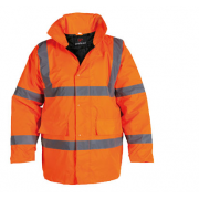 HV100R Orange Hi Vis Jacket