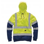 SA22095 High Visibility Two Tone Hoody Yellow/Navy
